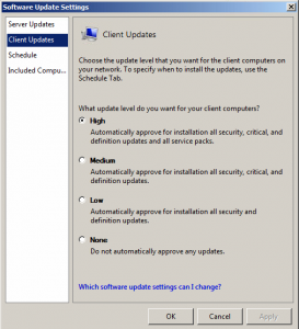 Most updates can be auto approved using an option in the SBS Console